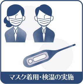 マスク着用・検温の実施