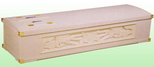 桐二面彫刻棺正元