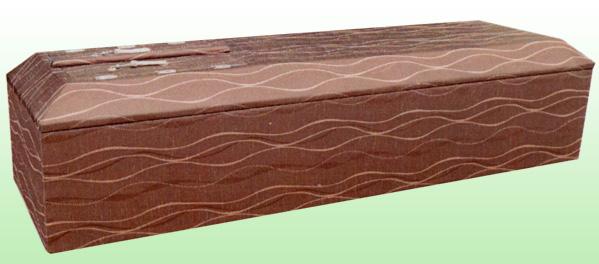 浄菌山型棺 優雅ラセットブラウン