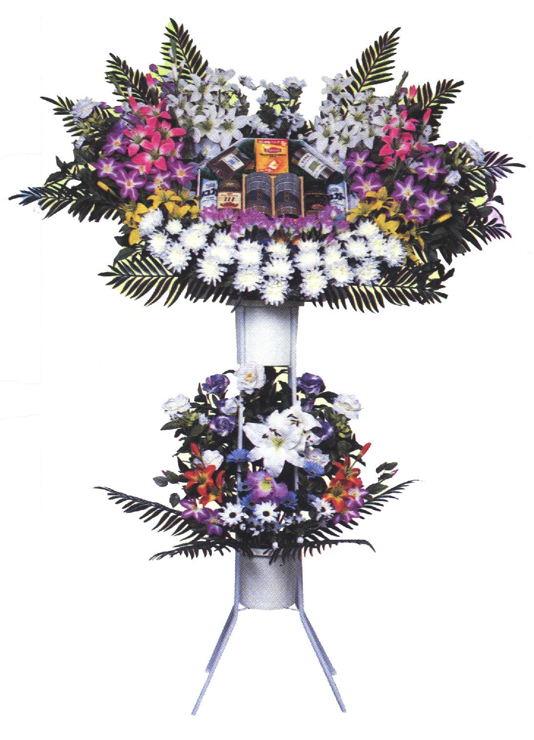 シルク花輪二段飾り 33,000円