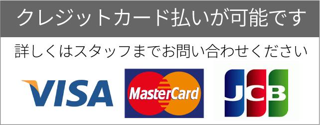 クレジットカード払いが可能です